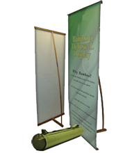 Bamboo L-Banner Stand